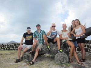 Fællesbillde på Pigeon Island, St. Lucia