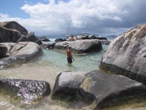 The Baths, store lavasten som er blevet kastet oppå kysten