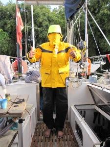Emil med sit nye sejlersæt, klar til afgang