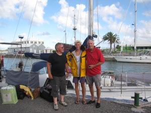 Kjell, Emil og Harald, nyt mandskab til Cassiopeia.